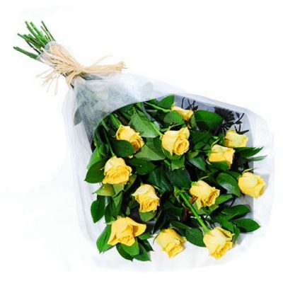 12 Roses - Yellow 001103