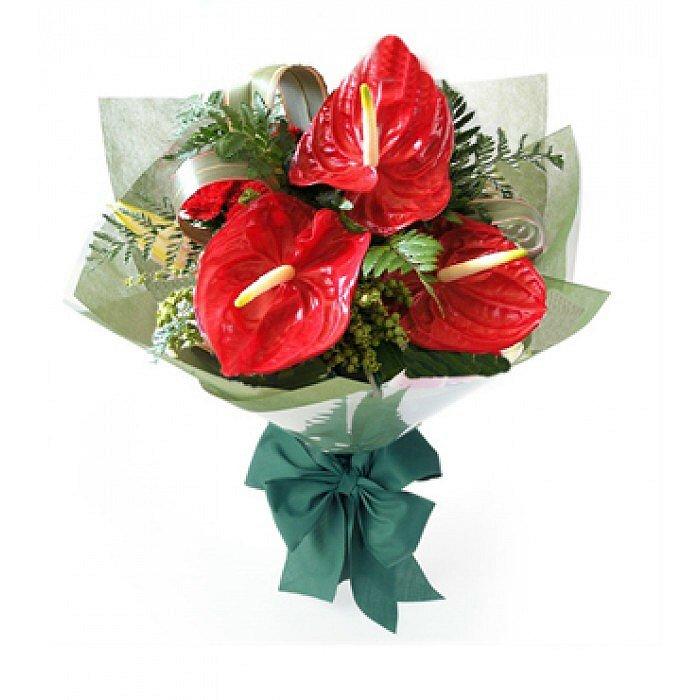 Μπουκέτο με φρέσκα λουλούδια Ανθούριο 0999