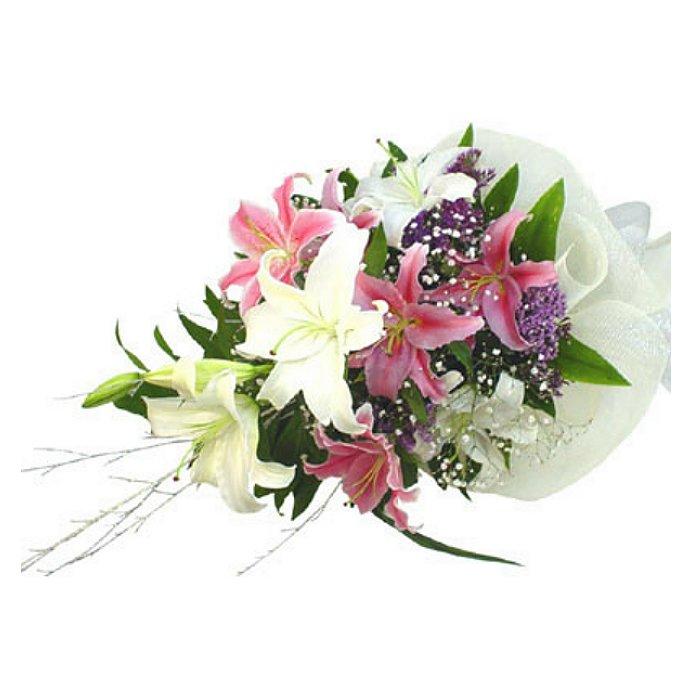 Ανθοδέσμη με φρέσκα λουλούδια Οριεντάλ - Καζαμπλάνκα 00226