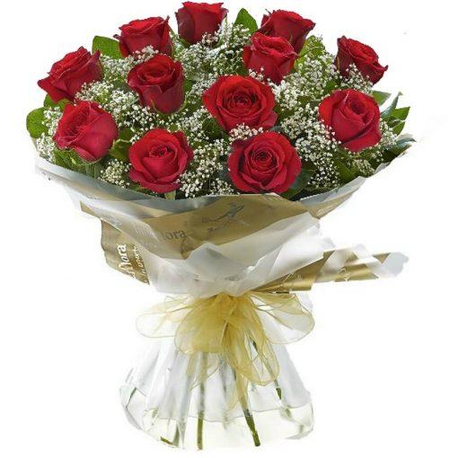 Τριαντάφυλλα σε μπουκέτο 001053