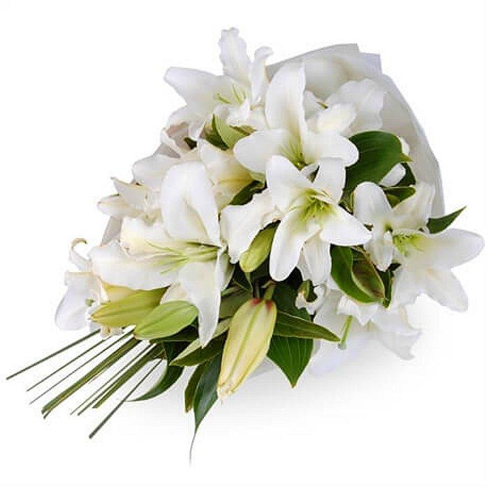 Ανθοδέσμη με φρέσκα λουλούδια Οριεντάλ - Καζαμπλάνκα 00227