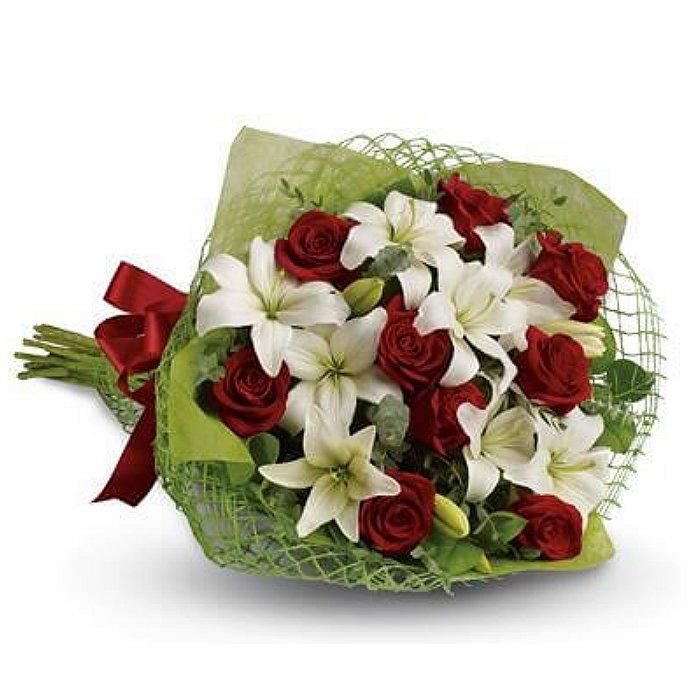 Ανθοδέσμη με φρέσκα λουλούδια 00419
