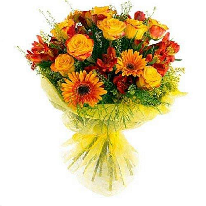 Μπουκέτο με φρέσκα λουλούδια 00341