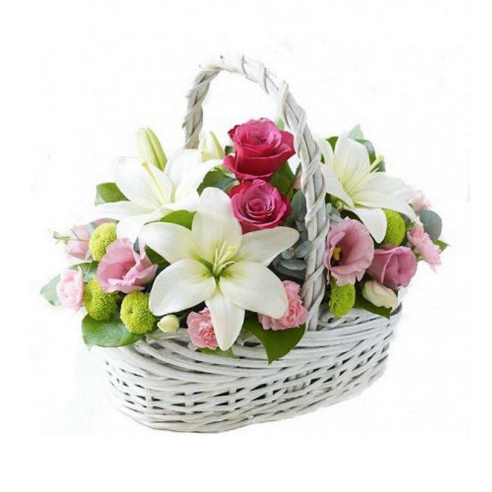 Σύνθεση με φρέσκα λουλούδια 00165