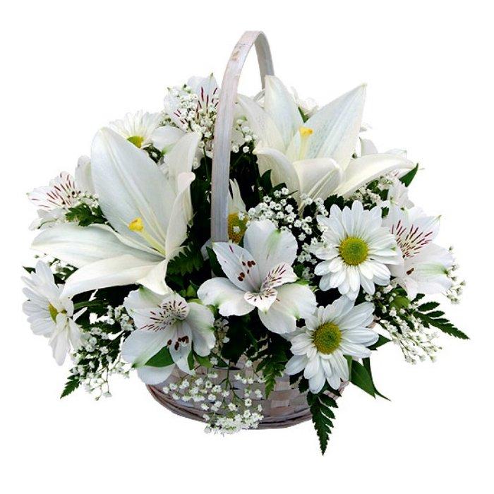 Σύνθεση με φρέσκα λουλούδια 00163