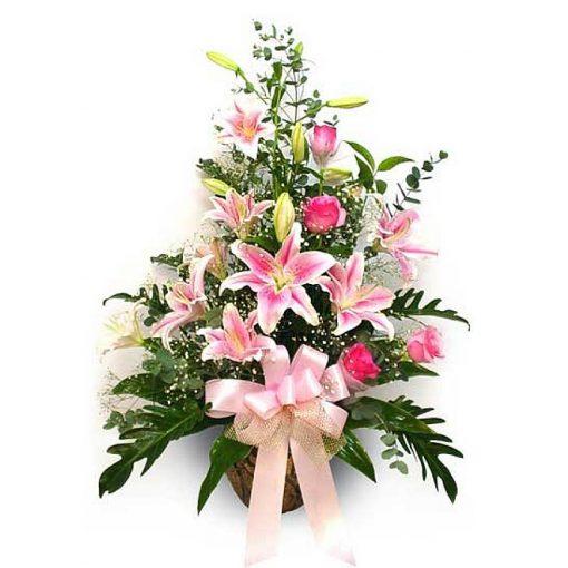 Σύνθεση με φρέσκα λουλούδια 00363
