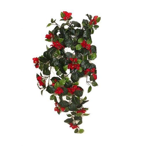 Τεχνητό κρεμαστό φυτό - Μπουκαμβίλια κόκκινη 310580