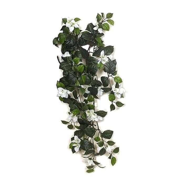 Τεχνητό κρεμαστό φυτό - Μπουκαμβίλια λευκή 310580