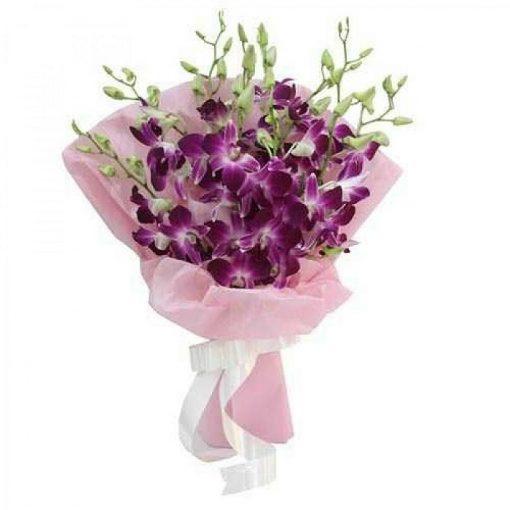 Ανθοδέσμη με φρέσκα λουλούδια Ορχιδέες 0701