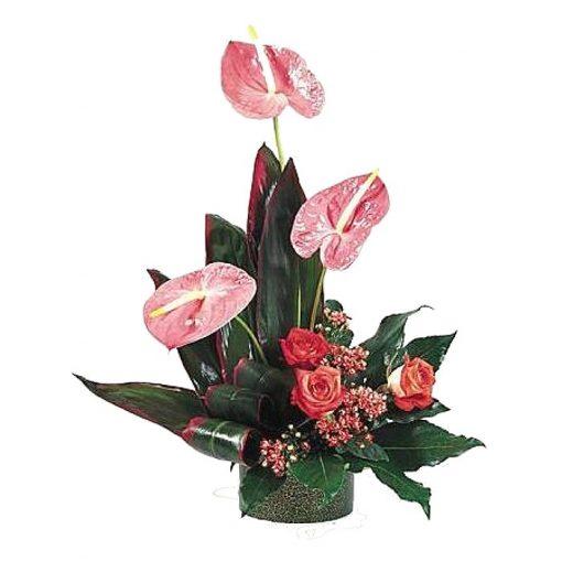 Σύνθεση με φρέσκα λουλούδια 00127