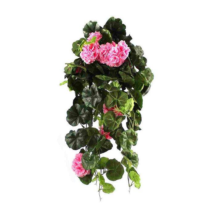 Τεχνητό κρεμαστό φυτό - Γεράνι ροζ 310495