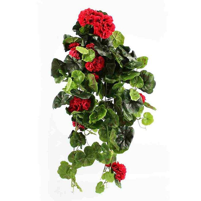 Τεχνητό κρεμαστό φυτό - Γεράνι κόκκινο 310495