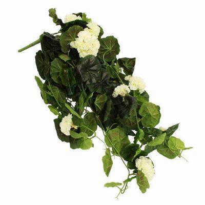 Τεχνητό κρεμαστό φυτό - Γεράνι λευκό 310495