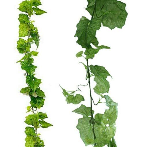 Τεχνητό κρεμαστό φυτό γιρλάντα - Πράσινες περικοκλάδες x 97 φύλλα 310600