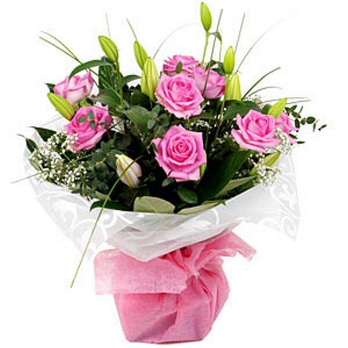 Μπουκέτο με φρέσκα λουλούδια 00332