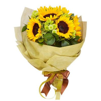 Bouquet with fresh flowers Sunflower 0801