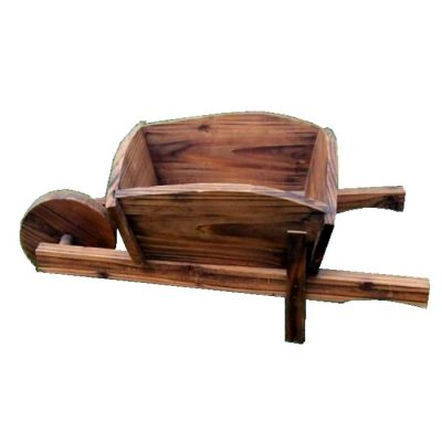 Decorative wooden garden wheelbarrows - WB 2