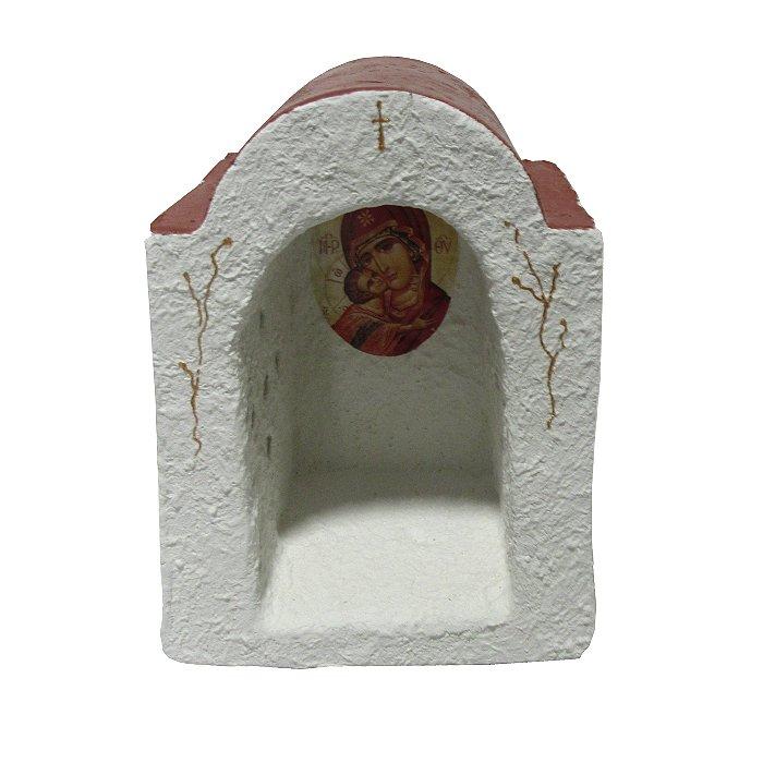 Διακοσμητικά κήπου χειροποίητα χτιστά - ΤΤ 0014 εκκλησάκι - εικονοστάσι