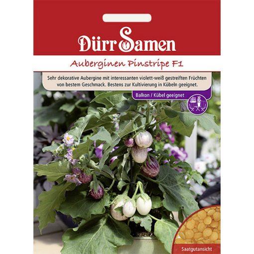 "DS4157 - Μελιτζανάκι - Solanum melongena ""Pinstripe F1"""