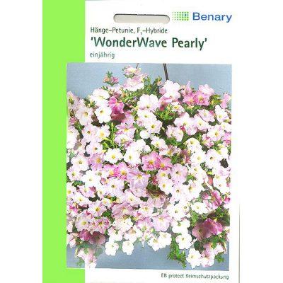"T0150 - Πετούνια υβρίδιο δίχρωμη ροζ κρεμαστή - Petunia hybridica ""WonderWave Pearly"""